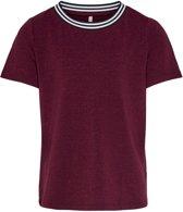 Kids Only t-shirt meisjes - bordeaux - KONathea - maat 122/128