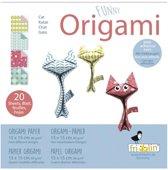 Fridolin Origami Katjes Vouwen 15 X 15 Cm 20 Stuks Multicolor