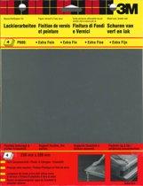 3M™ Schuurpapier Wetordry™, 9085CEEU, Zwart, P600, 4 vellen