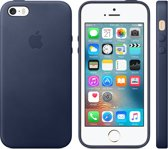 Apple Lederen Back Cover voor iPhone 5/5s/SE - Donkerblauw