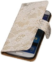 Samsung Galaxy Note 4 N910F Wit | Lace bookstyle / book case/ wallet case Hoes  | WN™