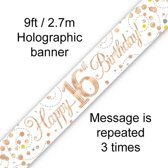 Banner 16 jaar Rose Gold