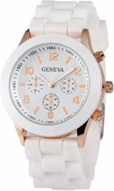 Geneva Siliconen Wit Horloge - Fashion Favorite