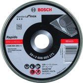 Bosch Doorslijpschijf recht Standard for Inox - Rapido 125mm - 10stuks