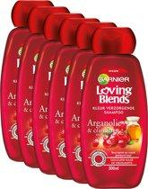 Garnier Loving Blends Cranberry - 6 x 300 ml - Shampoo - Voordeelverpakking