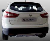 Motordrome Voor- & Achterbumper Skid Plate Nissan Qashqai 2014- (ABS Zilver)
