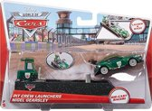 Disney Cars auto Nigel Gearsley met Pit Crew Launchers