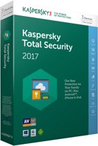 Kaspersky Total Security 2017 - Multi Device - 3 Apparaten - Nederlands / Frans