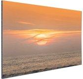 Zonsondergang in de zee Aluminium 120x80 cm - Foto print op Aluminium (metaal wanddecoratie)