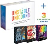 Unstable Unicorns - Basic Pack + Dragons Expansion Pack + Rainbow Apocalypse Expansion Pack + Unicorns NSFW Expansion Pack