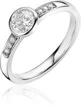 Zinzi Jewels Zilveren Ring  (Maat: 54) - Zilver