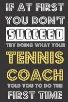 If At First You Don't Succeed Try Doing What Your Tennis Coach Told You To Do The First Time