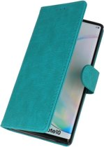 Wicked Narwal | bookstyle / book case/ wallet case Wallet Cases Hoes voor Samsung Samsung Galaxy Note 10 Groen