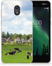 Uniek TPU Hoesje Koeien Geschikt voor Nokia 2