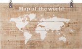 Map of the World 140x80cm wall art
