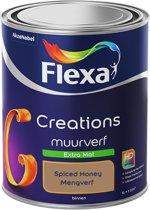 Flexa Creations - Muurverf Extra Mat - Spiced Honey Kleur van het Jaar 2019- 1 Liter