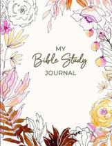 My Bible Study Journal: Christian Women's Bible Study Notebook with Floral Artwork on Cover - Daily Scripture Study, Prayer, and Praise - 4 We