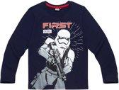Star-Wars-T-shirt-met-lange-mouw-marineblauw-maat-134