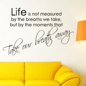 Life is not measured muursticker - Voor 23:59 uur besteld, morgen in huis