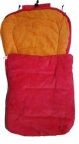 ISI MINI - Voetenzak - Fleece - autostoel 0 - Rood / Oranje