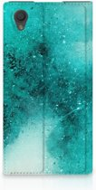 Sony Xperia L1 Standcase Hoesje Painting Blue