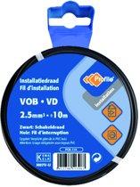 PROFILE installatiedraad VOB (België) VD (Nederland) - 2,5mm² - zwart - 10 meter