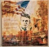 Canvas doek Kennedy 35 CM X 35 CM