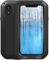 Metalen fullbody hoes voor Apple iPhone XR, Love Mei, metalen extreme protection case, zwart