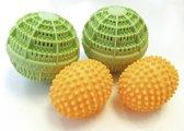 Was- en droogballen 4 stuks