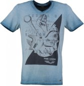 Pme legend blauw slim fit t-shirt - Maat S
