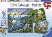 Ravensburger Dinosauriërs puzzel 3x49 stukjes