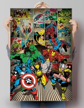 Reinders Poster Marvel - here come the heroes - Poster - 61 × 91,5 cm - no. 23913