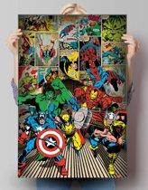 Marvel helden  - Poster 61 x 91.5 cm