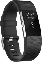 YONO Siliconen bandje - Fitbit Charge 2 - Zwart - Small