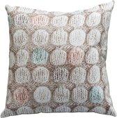 Ariadne at Home Knitted Dots - Sierkussen - 45x45 cm - Pastel