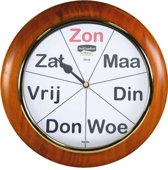 Analoge kalenderklok met dagnotitie -