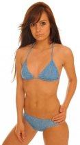 Sunselect zondoorlatende bikini - Raindrops - Maat 42
