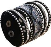 Fako Bijoux® - Armband - Breed - Twist - Zwart