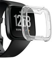KELERINO. Bescherm cover voor Fitbit Versa (Lite) Zacht Siliconen - Transparant