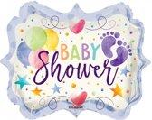 Folie ballon als baby shower 46 cm groot