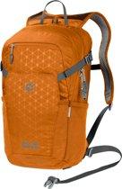 Jack Wolfskin Alleycat 18 Pack Backpack - Unisex - Orange Grid - ONE SIZE