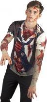 Halloween Shirt met zombie opdruk heren Xl