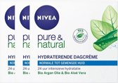 Nivea Visage Dagcreme Pure And Natural N/m Voordeelverpakking