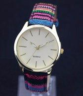 Leuk -/meisjes - Horloge regenboog 38 mm I-deLuxe verpakking