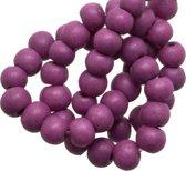 Glaskralen Stonewash (4 mm) Purple (110 Stuks)