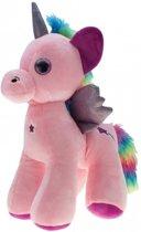 Pluche knuffel eenhoorn roze 22 cm - knuffeldier unicorn