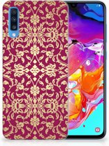 Samsung A70 TPU Siliconen Hoesje Design Barok Pink