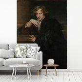 Fotobehang vinyl - Self-Portrait - Schilderij van Anthony van Dyck breedte 185 cm x hoogte 250 cm - Foto print op behang (in 7 formaten beschikbaar)