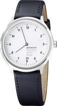 Mondaine Regular MH1.R2210.LB  Horloge - Leer - Zwart - Ø40 mm