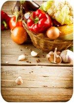 Papillon Afdruipmat met print - antislip keukenmat - groenten - 50x40 cm